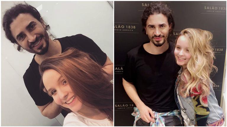 Larissa Manoela e João Guilherme Ávila mudam visual (Fotos: Reprodução/Snapchat)