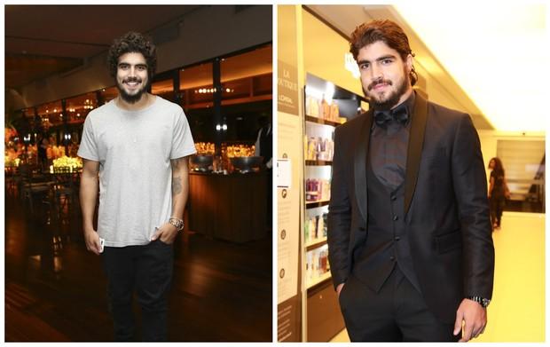 Caio Castro: no antes e depois (Foto: Marcos Ribas/Brazil News)